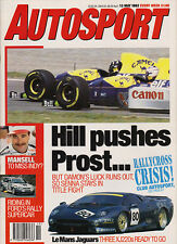 Autosport 13 May 1993 - Spanish Grand Prix Prost Hill, Renault Clio Williams