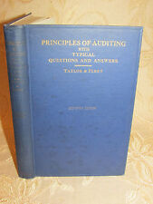 Antique Book Principles Of Auditing With Typical Questions & Answers - 1949