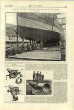 1890 The Ss Ulunda In The Graving Dock In Halifax Fenney Pipe Machine