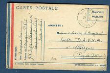 France - Carte FM de Chasseurs Portés pour Alliergues en 1940   réf O 37