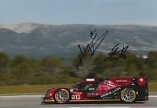 Kraihamer, Imperatori Hand Signed Rebellion Racing 12x8 Photo Le Mans 2016.