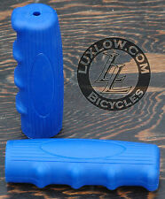 Blue Vintage Schwinn Bicycle Oval Rubber Grips Cruiser Bike Handlebar Phantom
