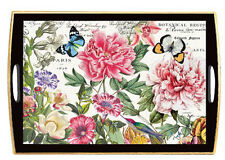 Michel Design Works Home Decoupage Rectangle Wooden Serving Tray – Peony WTD227