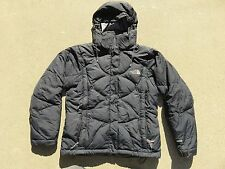 Womens The NORTH FACE Black 600 Hooded Down Puffer Zip Sweater Jacket XS