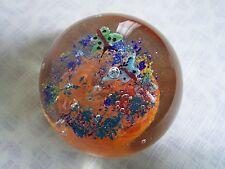 Italian Venetian Art Glass Butterfly Flower Paperweight Controlled Bubble