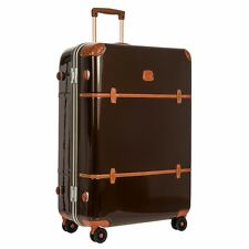 "NEW Brics DARK BROWN Bellagio Metallo 32"" Spinner Luggage Trunk Bric's TSA Locks"