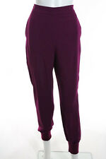 Stella McCartney Magenta Elastic Waist Tapered Pants Size Italian 44 New 110015