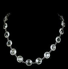 ANTIQUE VICTORIAN PASTE SILVER COLLAR NECKLACE  CIRCA 1860