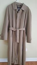 Sanyo Khaki Beige Belted Long Trench Coat with Removable Wool Lining sz 42R