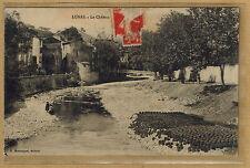 Cpa Lunas - le château poteries en train de sécher rp033
