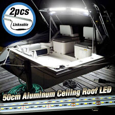 2x 20 Inch (50cm) Aluminum LED Ceiling Roof Lights Boat Marine Yacht Cabin White
