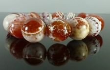 Crab Fire Agate Bracelet 14mm Chunky