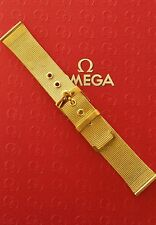 NOS 20MM FINEST MILANESE MESH GOLD WATCH BAND WATCHBAND BRACELET STRAP FIT OMEGA