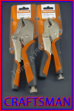 "CRAFTSMAN HAND TOOLS 2pc 7"" & 10"" Straight Jaw Locking Pliers set FREE SHIPPING"