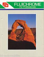Prospekt GB Fuji Film Fujichrome for professionals 1984 brochure Photografica