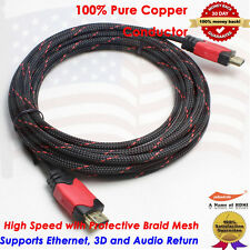 15Ft Feet HDMI to HDMI Cable Gold Plated 1080p, PS3, Blu-Ray DVD, LCD,TV, Xbox