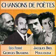 CD Chansons de Poètes / Jacques Brel, Léo Ferré, Mouloudji, Brassens / IMPORT