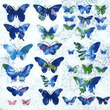 4x tableau unique fête serviettes en papier pour découpage decopatch vintage fly away
