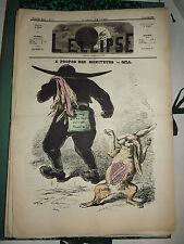 L'ECLIPSE,N°51b  journal du 10 janvier 1869,( a propos des moniteurs)  par GILL.