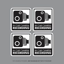SKU2298/32 - Set Of 4 In Car Camera Recording Car Sign Sticker - CCTV - Dashcam