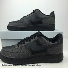 NIKE AIR FORCE TRAINERS NEW MENS BLACK ANTHRACITE CASUAL SHOES UK 8 RRP £90