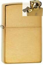 Zippo 204 solid brushed brass Lighter with PIPE INSERT PL