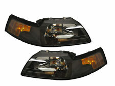 2001-2004 Ford Mustang & Cobra Stock Headlights Headlamps w/ Xenon 9007 Bulbs
