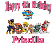 NEW PERSONALIZED PAW PATROL DOGS T SHIRT PARTY FAVOR TEE BIRTHDAY ADD NAME, AGE