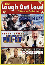 The Laugh Out Loud Collection 3 MOVIE (DVD, 2015) Grown Ups, Mall Cop, Zookeeper