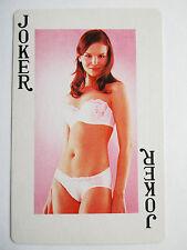 Pinup. Woman in underwear. Aeltere Joker. Great vintage Joker. Spielkarte.  (38)