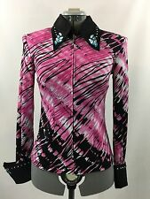 M(8-10) Western Show Pleasure Rail Shirt Jacket Clothes Showmanship Horsemanship