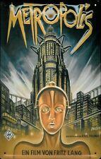 Blechschild Nostalgieschild Metropolis Fritz Lang Filmplakat 20x30 cm retro