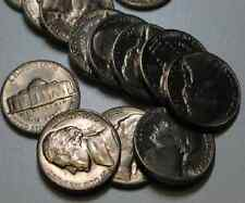 LOT TONED GEM BU  JEFFERSON NICKELS 1950's and 1960's 1bid=1coin &  SILVER Offer