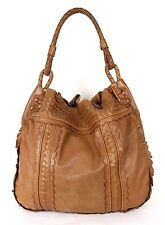 BOTTEGA VENETA Brown Perforated & Woven Leather MAXI Large Hobo Bag
