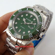 vintage 40mm Bliger green dial sapphire crystal automatic movement mens watch 66