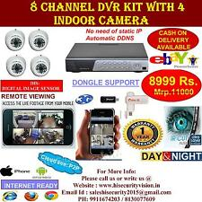 CCTV SYSTEM CCTV CAMERA KIT 8 CHANNEL DVR 800TVL DOME CAMERA BULLET CAMERA KIT