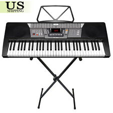 61 Key Electronic Piano Keyboard Music Key Board Organ With X Stand Heavy Duty