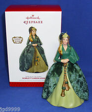 Hallmark Gone With the Wind Ornament Scarlett's Green Gown 2013 Porcelain NIB