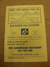 26/09/1981 Kings Lynn v Witton Albion [Northern Premier League Cup] (folded, tea