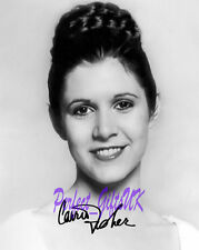 Carrie Fisher Princess Leia Star Wars SIGNED AUTOGRAPH 10X8 REPRO PHOTO PRINT N2