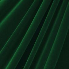 Hunter Green Velvet Flocking Drapery Upholstery Fabric - Sold By The Yard - 60""