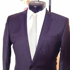 nwot BEN SHERMAN  NAVY Slim Fit Pinstripe BLAZER SUIT JACKET  UK 38 Free UK Post