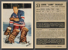 Lorne Gump Worsley Rookie #53, Reprint, 1953-54 Parkhurst Mint