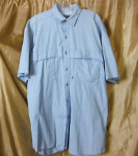Moose Creek Outdoor Fishing Vented Button Down Short Sleeve Shirt Cotton Large L