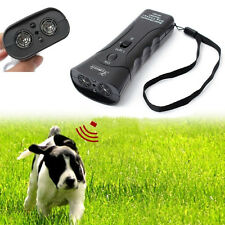 New Ultrasonic Dog Chaser Stops Aggressive Animal Attacks Repeller Flashlight UK