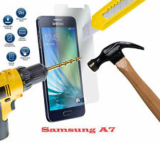 REAL TEMPERED GLASS FILM LCD SCREEN PROTECTOR FOR SAMSUNG GALAXY A7