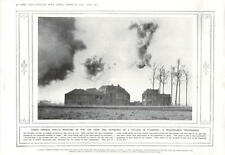 1915 Shells Explode Flanders Village Prince Leopold Of Belgium Saluted