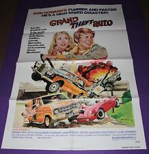 GRAND THEFT AUTO ONE SHEET MOVIE POSTER RON HOWARD MARION ROSS