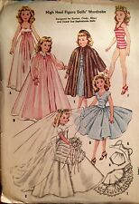 NEW RARE 1957 'MC CALL'S' DOLL'S ( CINDY +) WARDROBE SEWING PATTERN 2162