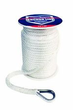 Attwood Solid Braid MFP Anchor Line with Thimble 11724-1 For Boat 3/8 x 100 Feet
